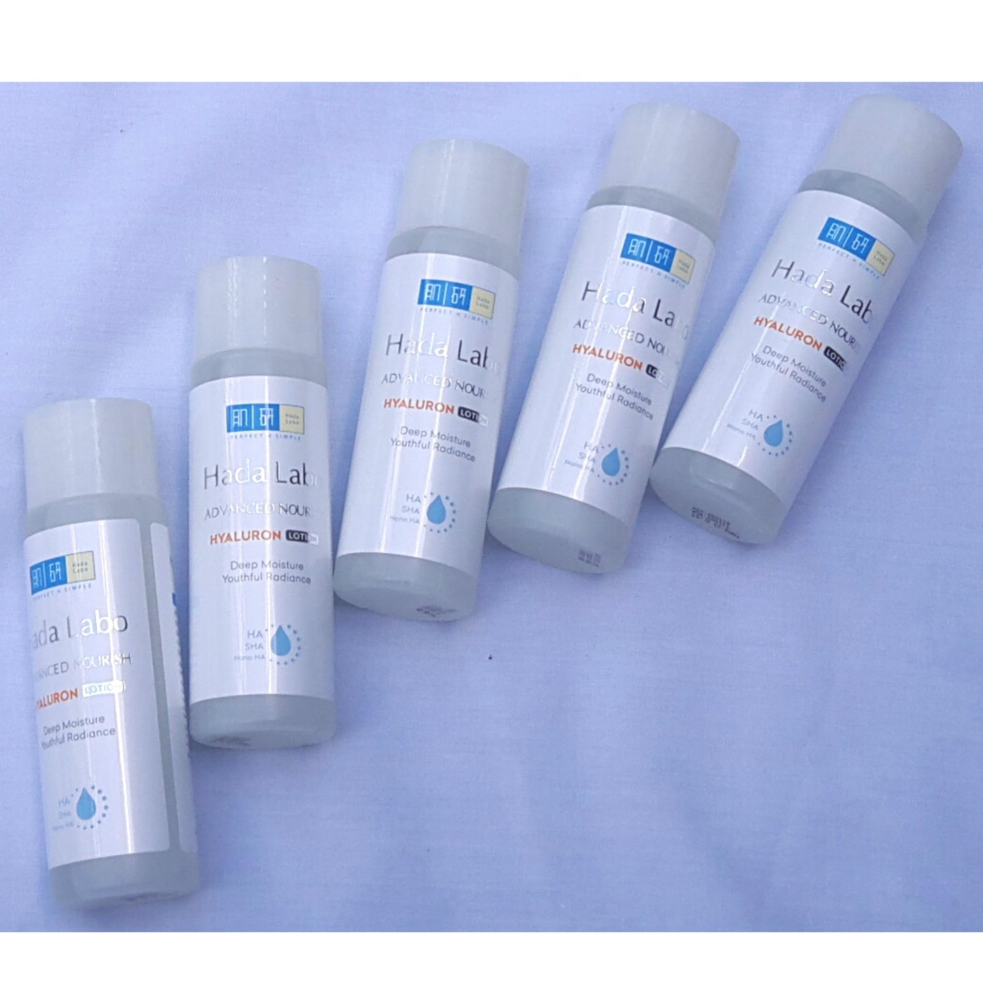 Hình ảnh Combo 5 chai Dung dịch dưỡng ẩm tối ưu Hada Labo Advanced Nourish Hyaluron Lotion 40ml