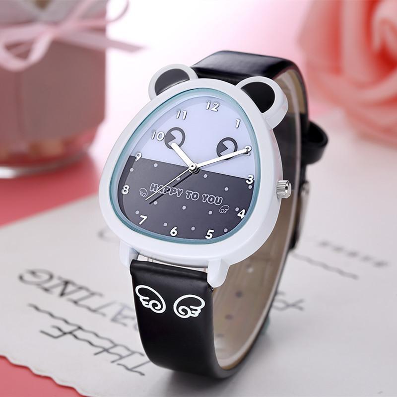 Giá bán Đồng hồ trẻ em kim W07 màu hồng tai mèo hình thú giá tốt