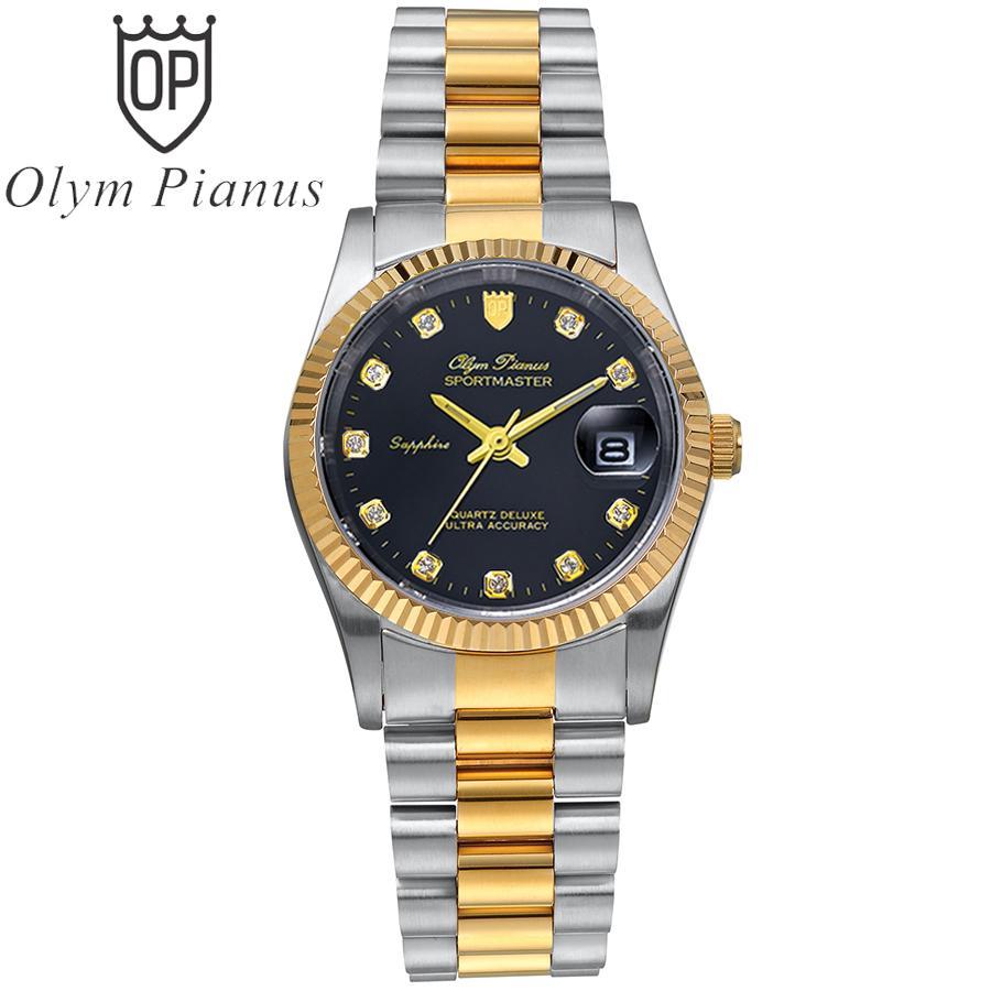 Nơi bán Đồng hồ nam mặt kính sapphire Olym Pianus OP89322MSK đen