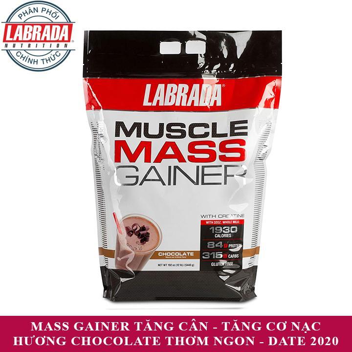 Hình ảnh Sữa tăng cân tăng cơ Muscle Mass Gainer của Labrada hương socola bịch 5.4 kg - Phân phối chính thức