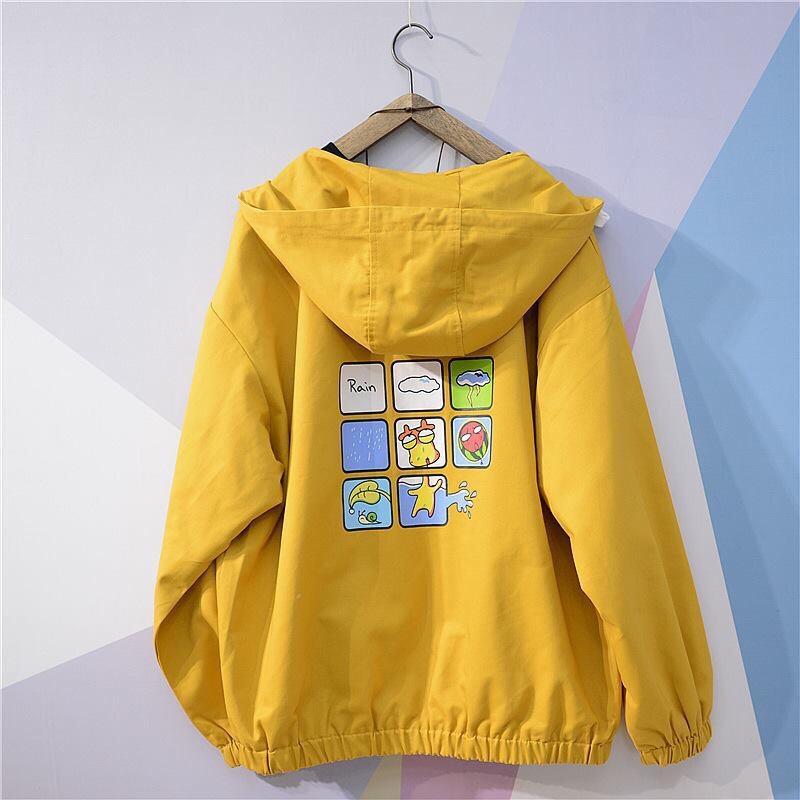 Áo khoác dù dễ thương với hình ảnh hoạt hình thú vị B051 AL Nhật Bản