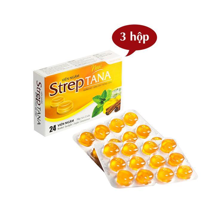 Hình ảnh Set 3 hộp Streptana ngậm ho (24 viên/hộp)