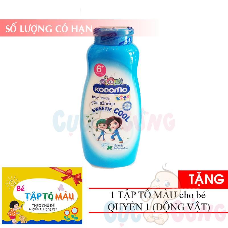 Phấn Kodomo Thơm Mát - Cool - 6 Tuổi + 180g - Thái Lan TẶng 1 Quyển Tô Màu (động Vật) By Shop Baby Chick.