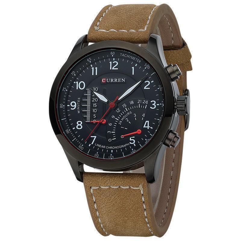 Đồng hồ nam thời trang cao cấp Curren 8152 CR01, kiểu dáng đẳng cấp, phù hợp với phong cách quý ông lịch lãm, tặng pin dự phòng (Nâu)