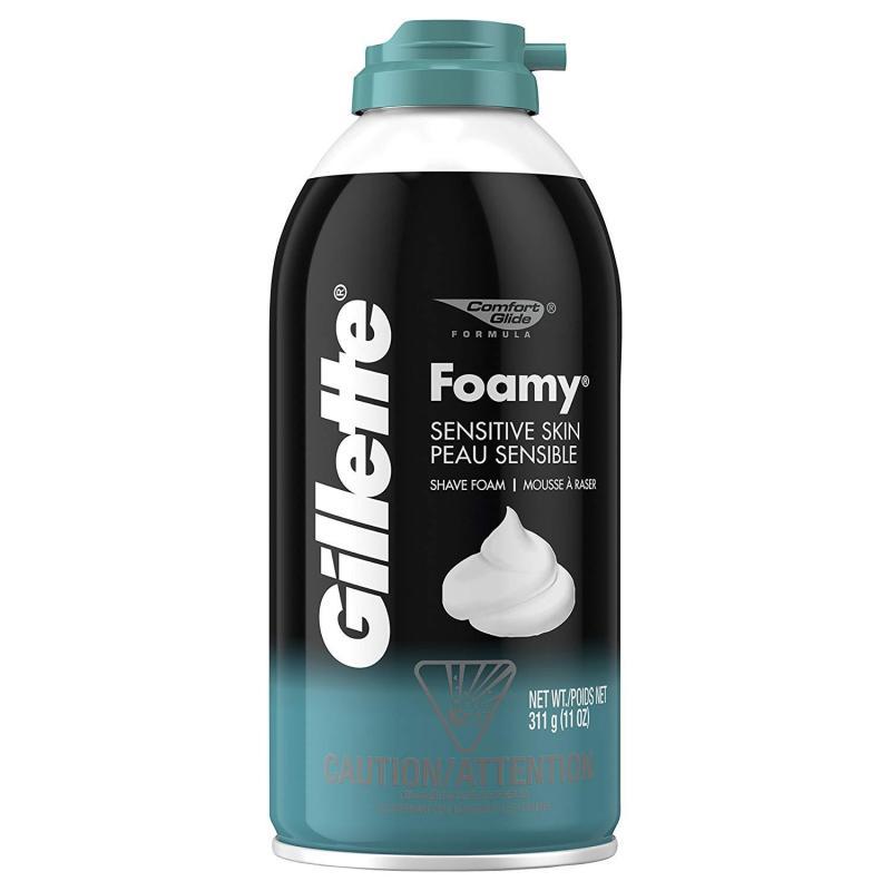 Bọt Cạo Râu Dành Cho Da Nhạy Cảm Gillette Foamy Sensitive Skin Shave Foam 311g