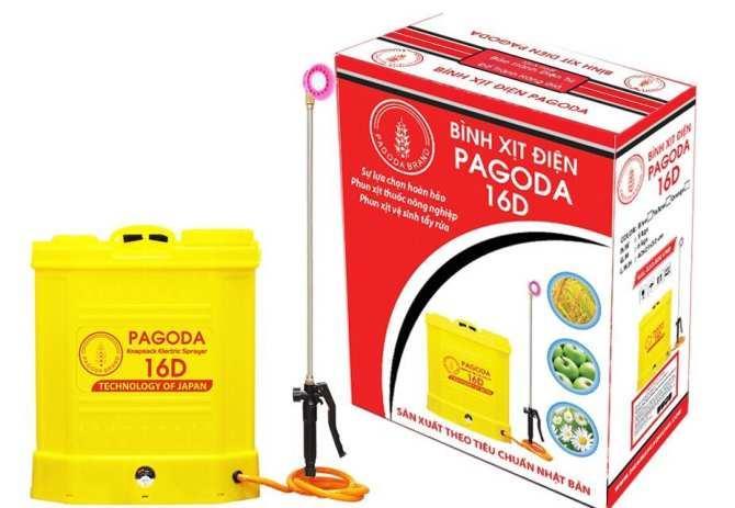 Bình phun xịt thuốc bằng điện Pagoda 16 (16 lít, đeo lưng)