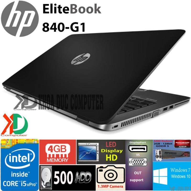 """Máy tính xách tay HP EliteBook 840-G1 core i5-4300/ 4GB ram/500GB HDD/ 14"""" display HD"""