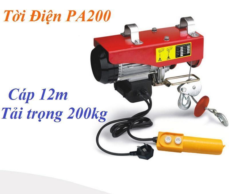 Tời điện PA200 cáp 12m - 510W - 100/200kg - ABG shop