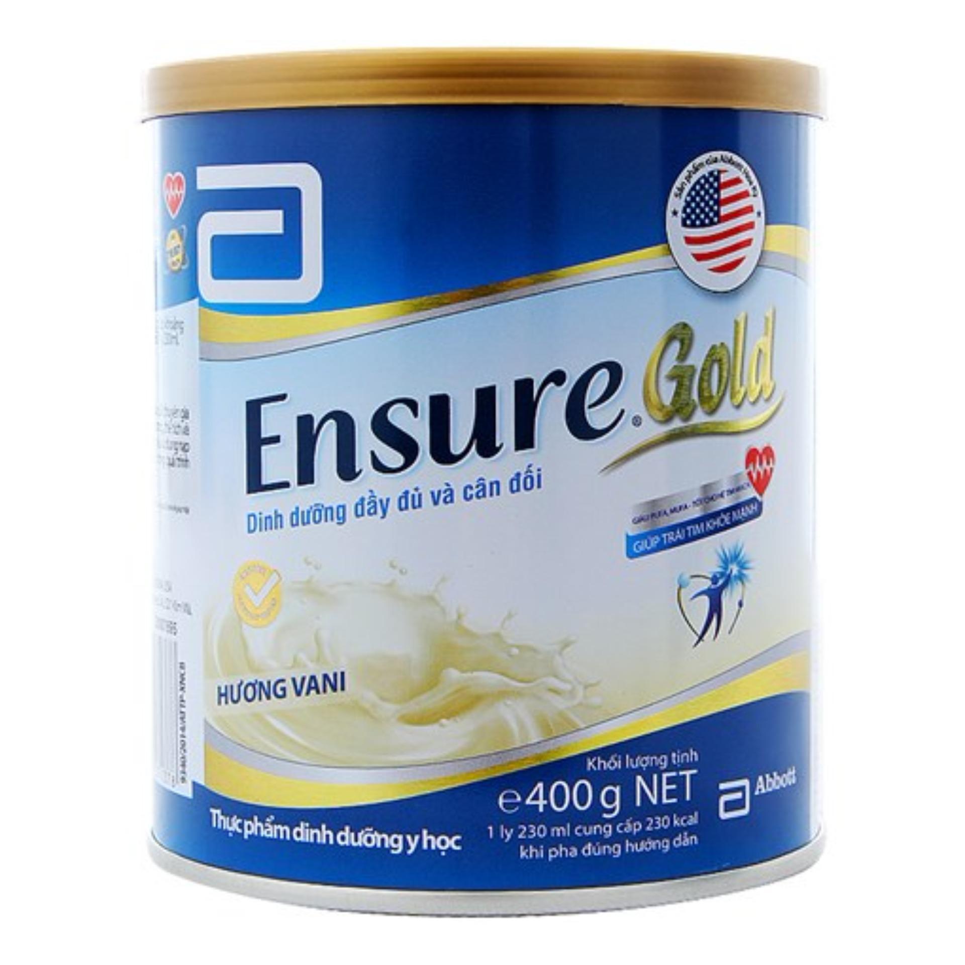 Lon sữa bột Ensure Gold Hương Vani 400g
