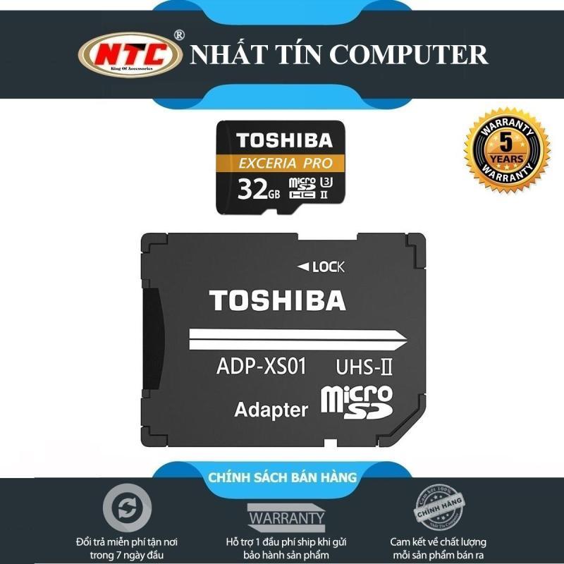 Thẻ nhớ MicroSDHC Toshiba Exceria Pro M501 32GB UHS-II U3 hỗ trợ 4K tốc độ lên đến 270MB/s (Đen)