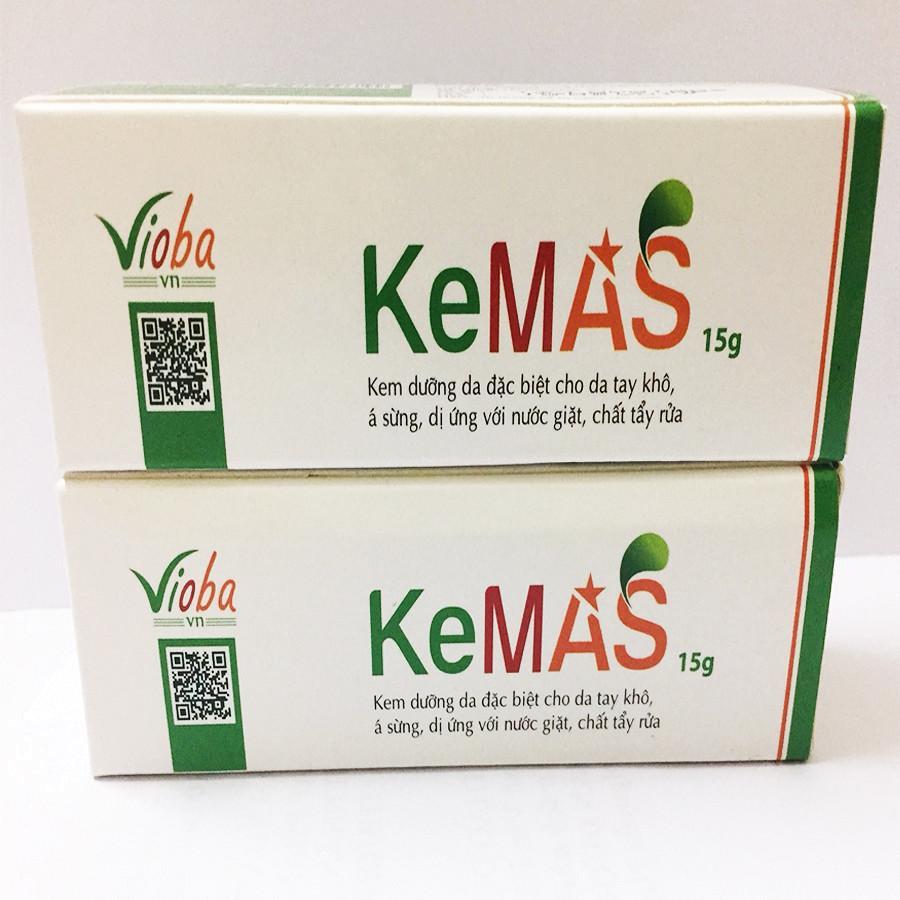 Trị da khô, bong tróc, nứt nẻ, á sừng, trị các chứng viêm sưng da, dưỡng và giữ ẩm cho da - Bộ 2 hộp kem dưỡng da Kemas Vioba hộp 15g nhập khẩu