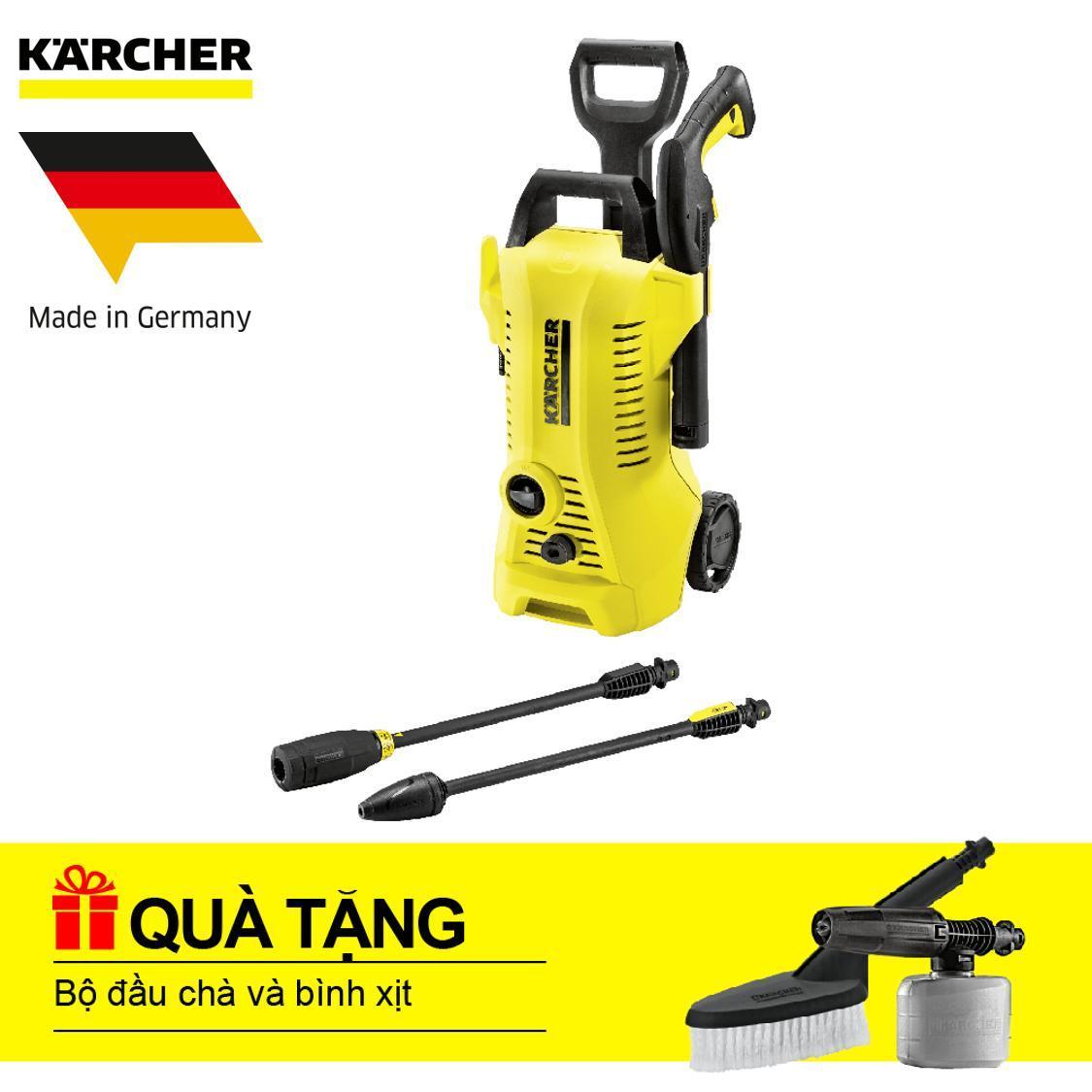 Máy phun rửa áp lực cao Karcher, K 3.450 + Tặng bộ đầu chà và bình xịt