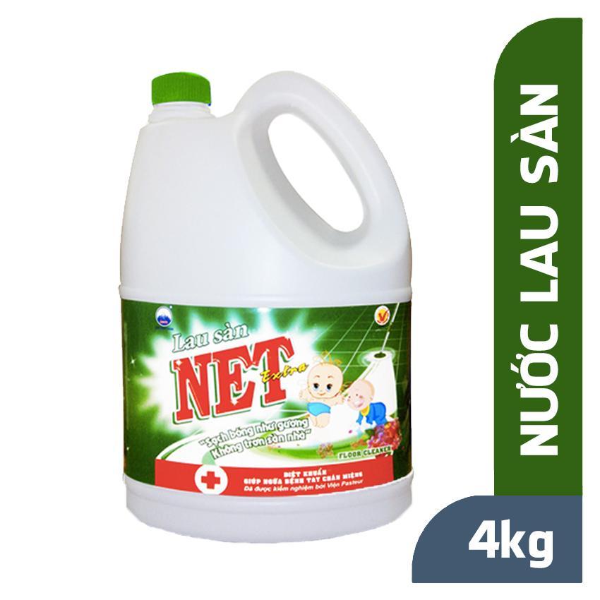 Nước lau sàn NET Extra Diệt Khuẩn can 4kg