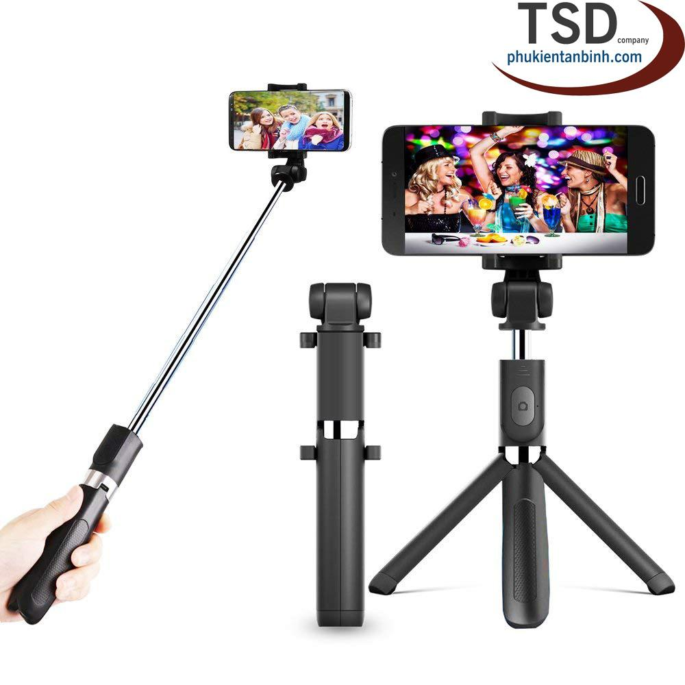 Hình ảnh Gậy Tripod 3 Chân Akus Selfie Stick ( Kết nối bằng bluetooth)