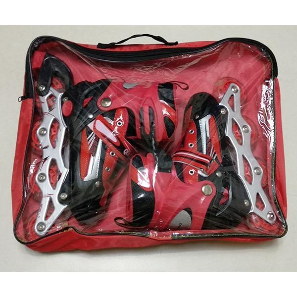 Giá bán Giày patin cho bé có đèn Flash + Bộ bảo vệ tay chân trượt partin + Túi đựng giày sang trọng