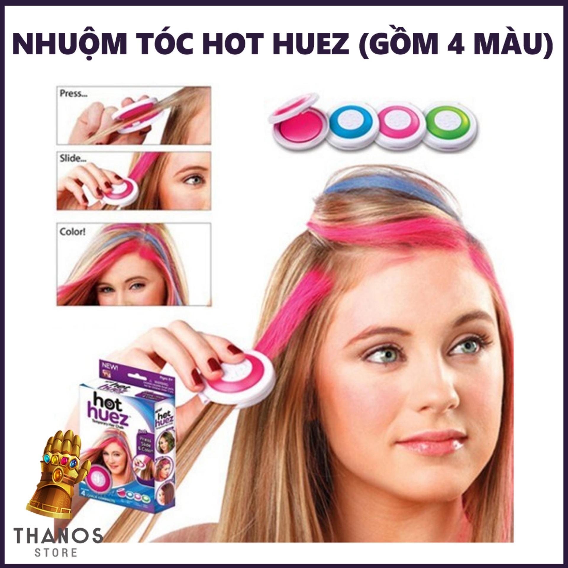 Bộ hộp phấn nhuộm tóc Hot Huez (gồm 4 màu) - Thanos Store nhập khẩu