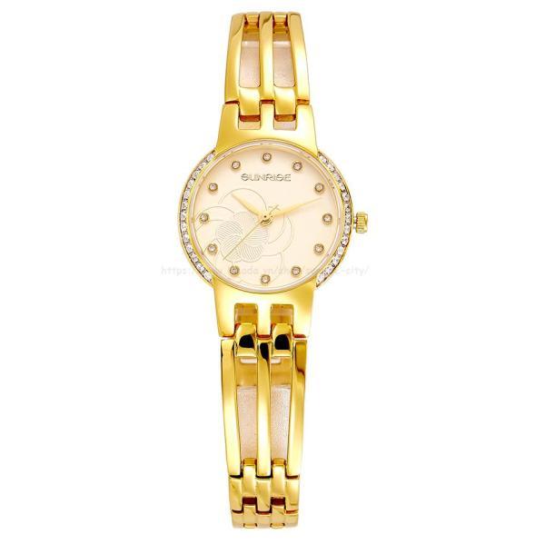 [HCM]Đồng hồ nữ siêu mỏng Sunrise 9932AA Đính đá Fullbox hãng kính Sapphire chống xước
