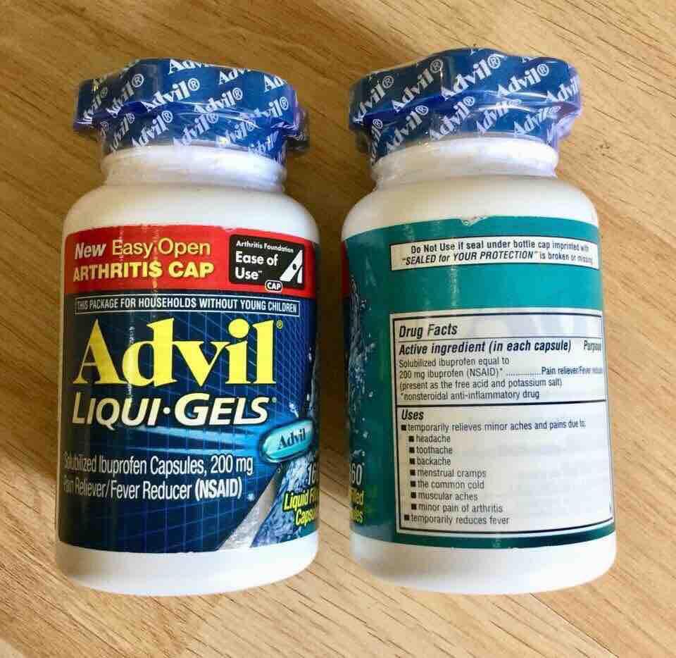 Hình ảnh Viên uống giảm đau nhức Advil Liqui Gels 200mg 160 viên date 2021