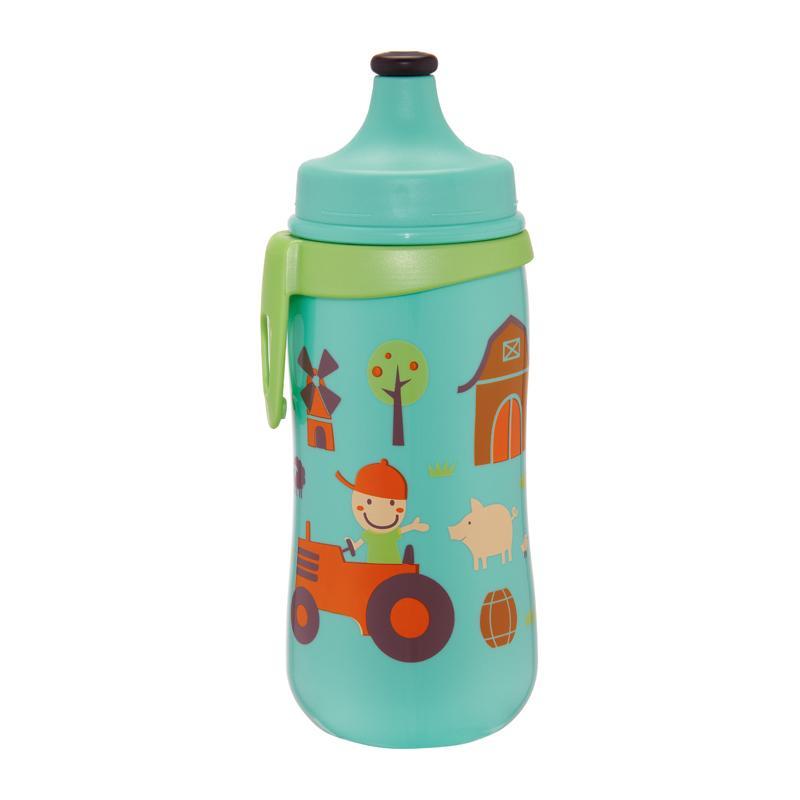 Bình tập uống PP cổ rộng 330ml cho bé có khóa ấn-kéo chống đổ nước (Made in Germany)