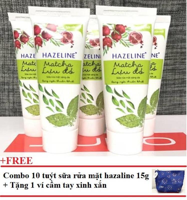Combo 10 tuýt sữa rữa mặt Hazeline 15g + Tặng 1 ví cầm tay xinh xắn nhập khẩu