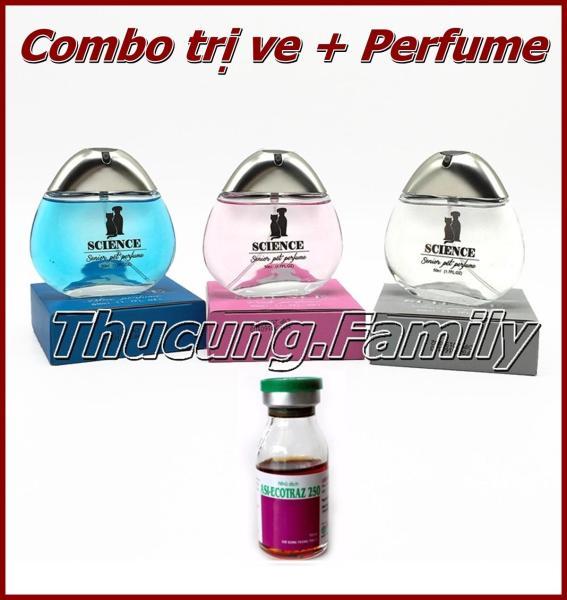 Combo Thuốc trị ve rận ASI-ECOTRAZ 250 chai 10ml & nước Hoa cao cấp SCIENCE 50ml.