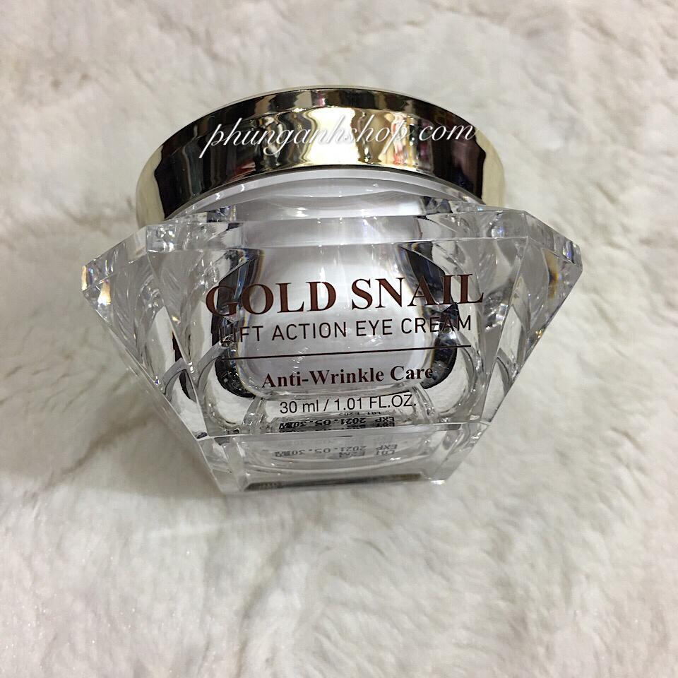 Kem nâng cơ - xóa nhăn vùng mắt GOLD SNAIL Lift action eye cream anti wrinkle 30ml chính hãng