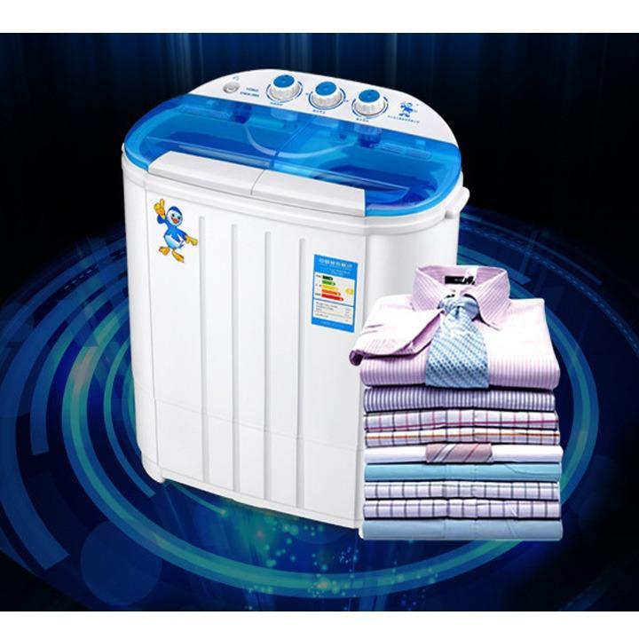 Hình ảnh Máy giặt mini 2 lồng Online Mall 4.5Kg, máy giặt mini bán tự động (Trắng)
