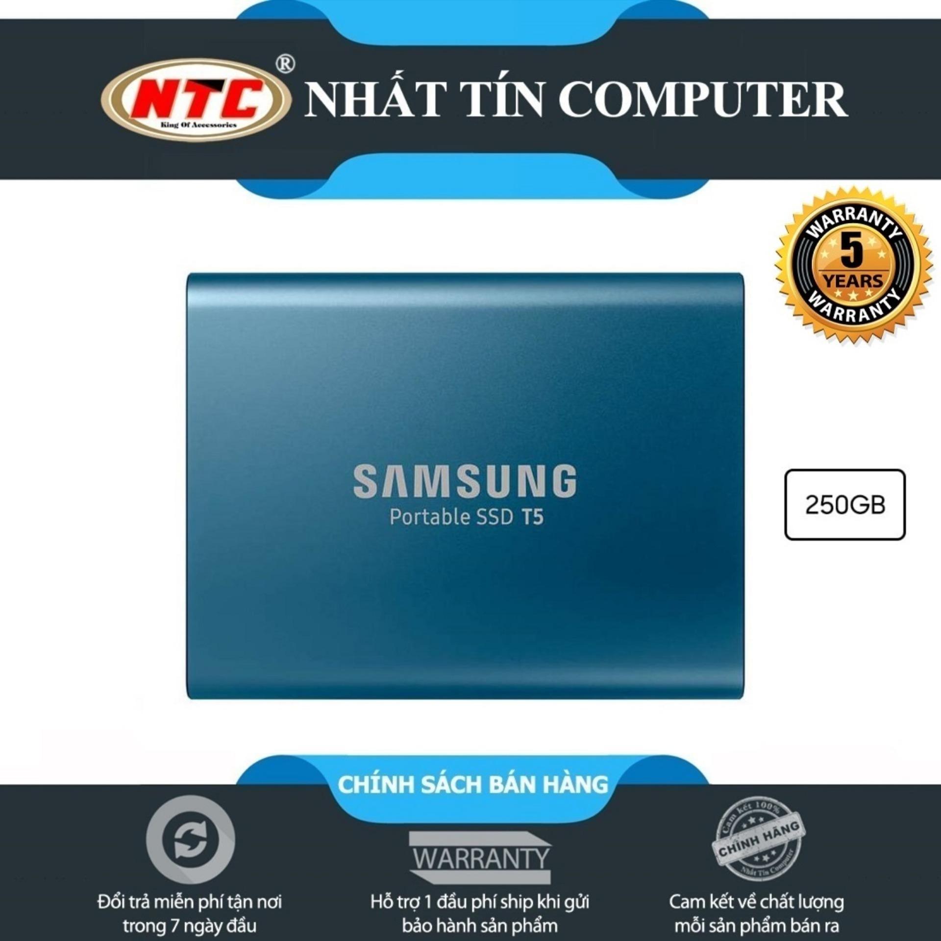 Ổ cứng di động SSD External Samsung T5 250GB - USB 3.1 Gen 2 (Xanh)