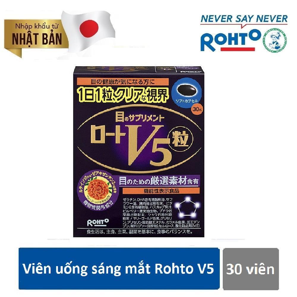 Bán Vien Uống Sang Mắt Rohto V5 Hộp 30 Vien Nhập Khẩu Chinh Hang Từ Nhật Bản V5 Có Thương Hiệu