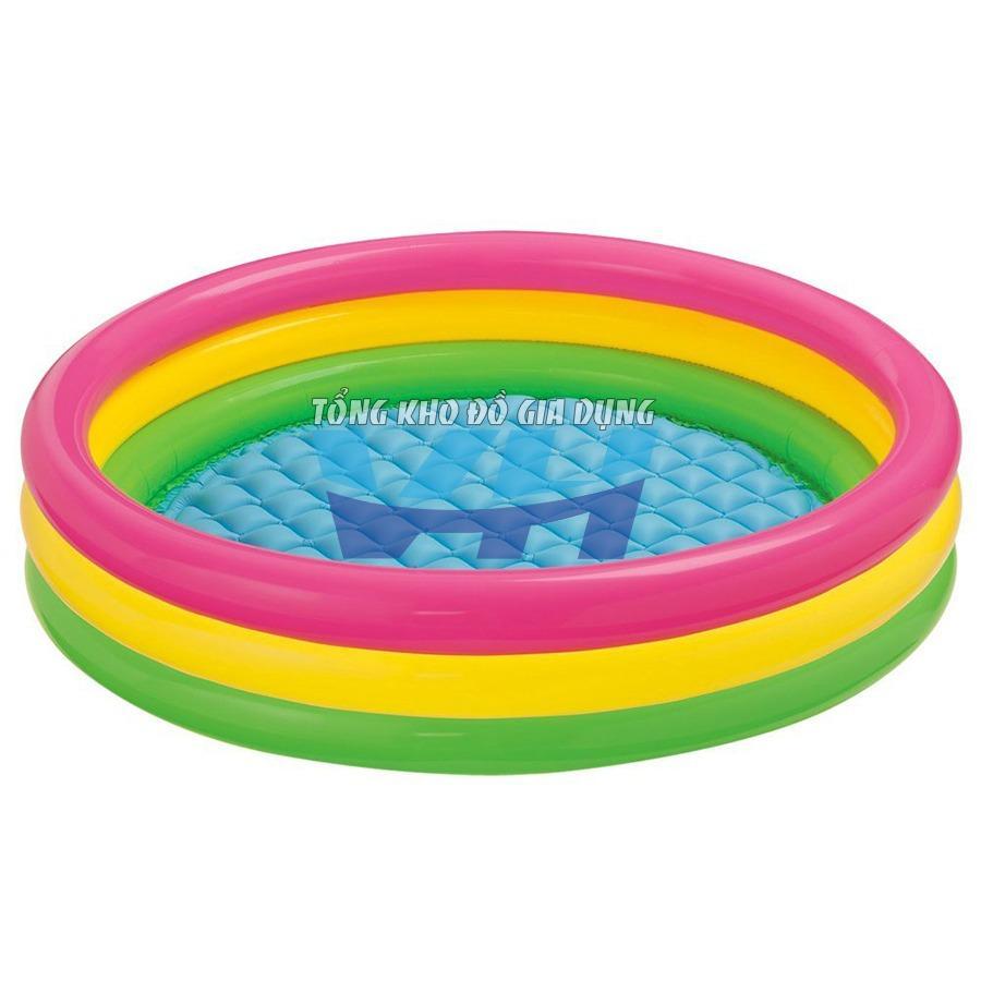 Bể bơi trẻ em Intex 57412 Việt Hiếu (Cầu vồng 3 tầng kích thước 114x25 cm)