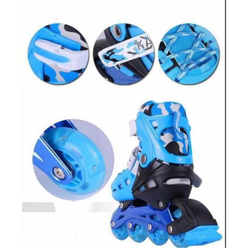 Giày Patin trẻ em tặng mũ và đồ bảo hộ (5 đến 14 tuổi) ôm chân, chắc chắn, an toàn - Sản phẩm bán chạy - Bảo hành uy tín bởi Click - Buy