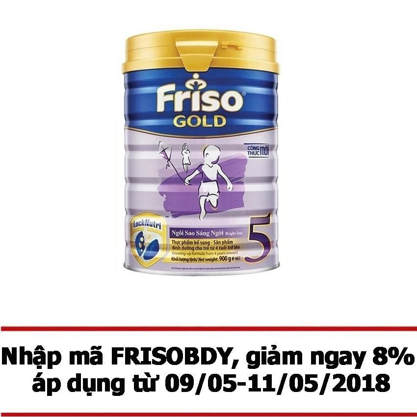 Sữa Bột Friso Gold 5 900G Mới Nhất