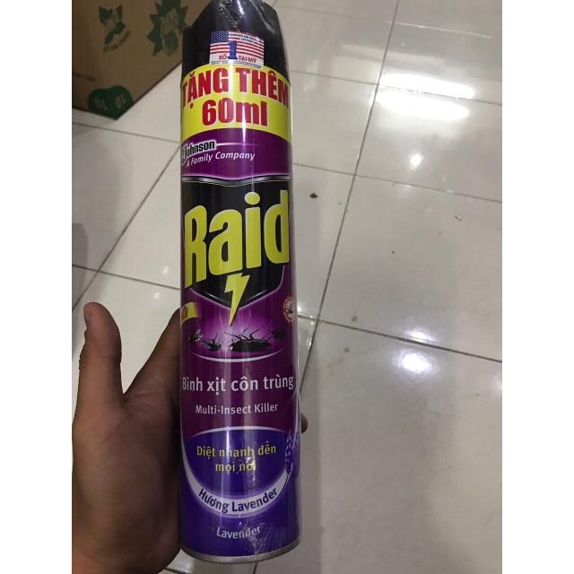Hình ảnh Xịt côn trùng Raid 600ml + 60ml