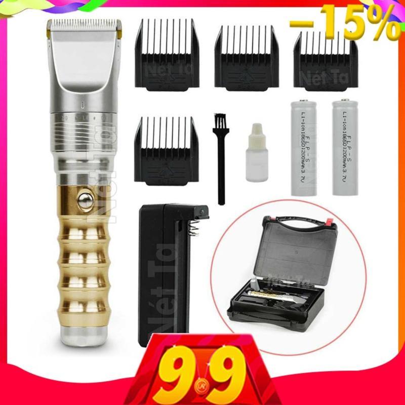 Tông đơ cắt tóc chuyên nghiệp Chaoba RFCD-602 lưỡi sứ trắng dùng pin 18650 sạc rời siêu khủng, hộp đựng vali cao cấp
