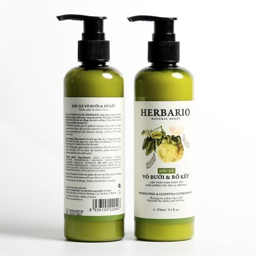DẦU XẢ HERBARIO trị rụng tóc, mọc tóc, giúp tóc óng ả mềm mượt 270ml