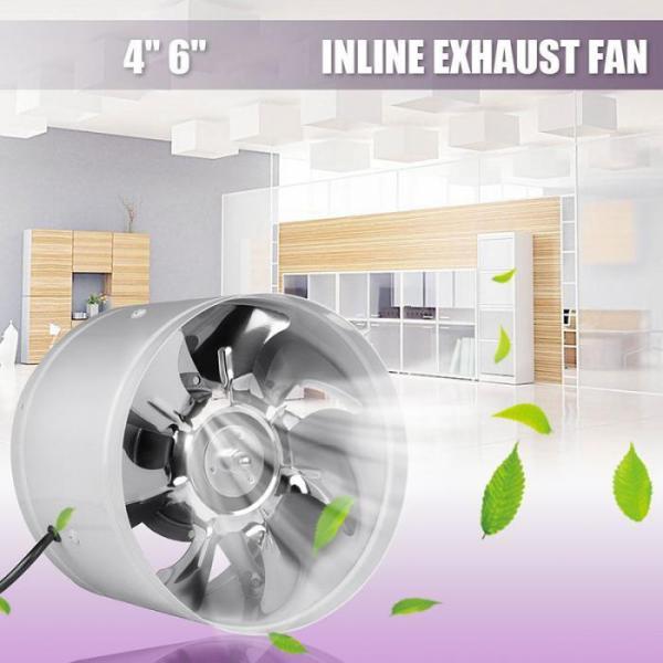 Quạt thông gió làm mát đường ống 4 inch chất liệu thép (lỗ chờ 100mm)