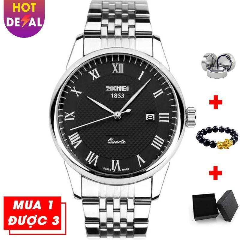 Đồng hồ nam doanh nhân sang trọng SKMEI VK016 dây thép không gỉ