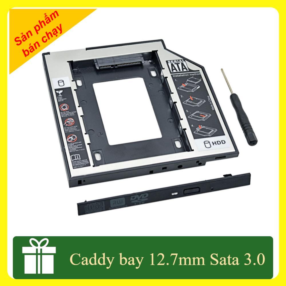 Hình ảnh Caddy Bay 12.7mm SATA 3.0 gắn thêm ổ cứng cho Laptop SL-106 tặng tuavit