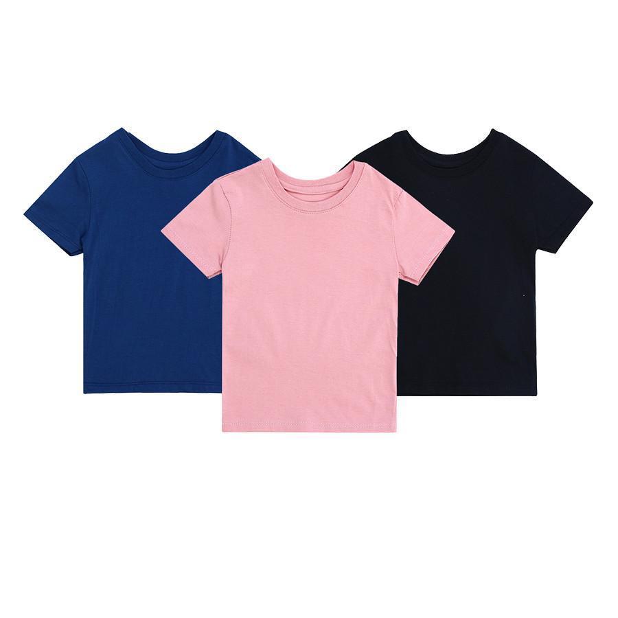 Combo 3 áo Thun Trơn (random Màu) - Little Princess - Lp24 By Miha Baby.