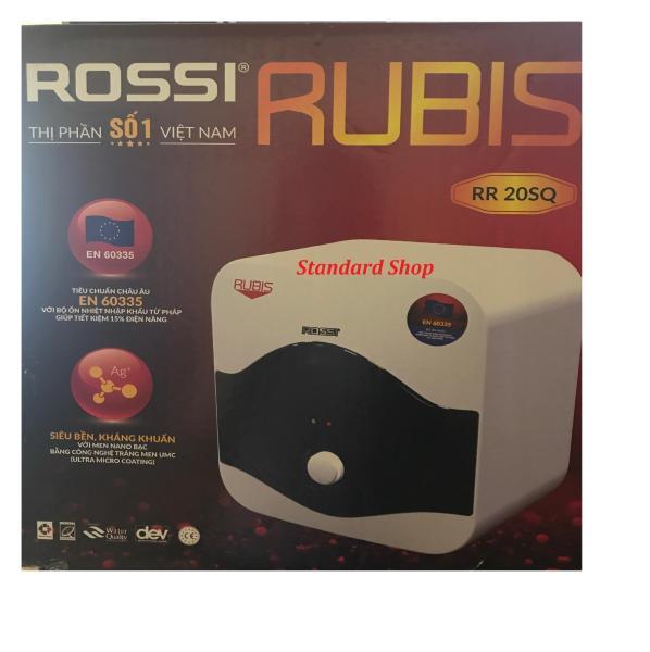 Bảng giá Bình nước nóng chống giật Rossi Rubis 20 lít vuông RR20SQ