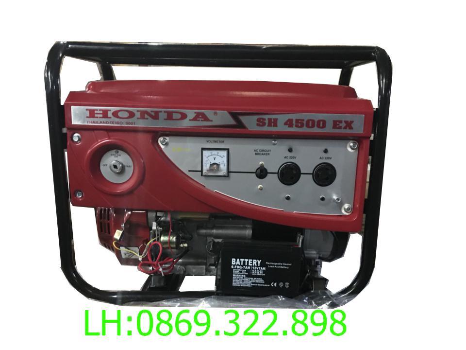 Máy phát điện Honda SH4500E AVR(new) 3.5kw chạy xăng đề