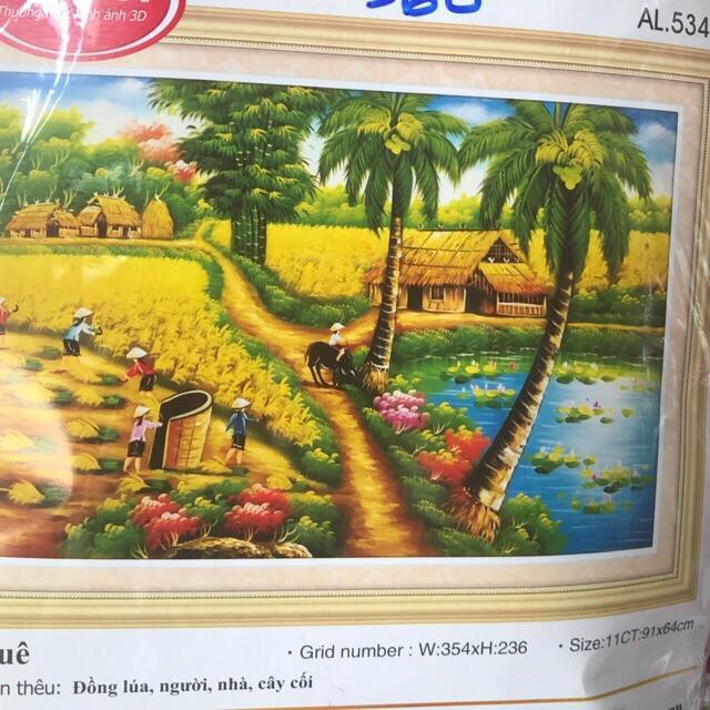 Tranh Thêu Chữ Thập Phong Cảnh đồng Quê 3d Ailuo Al53470 By Tranh Thêu Chữ Thập Rio.