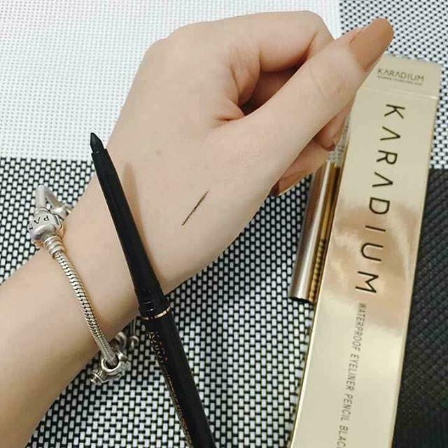 chì karadium waterproof eyeliner pencil black