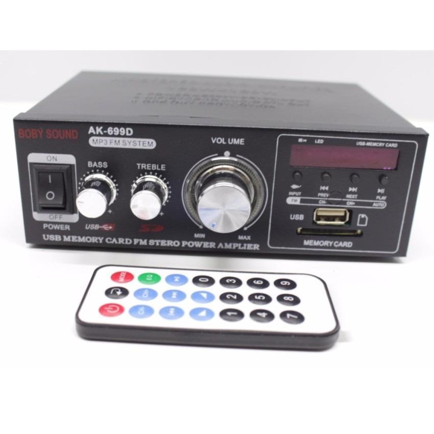 Ampli Mini 699 12V+220V - 180W+180W 3 in 1 (Đen)