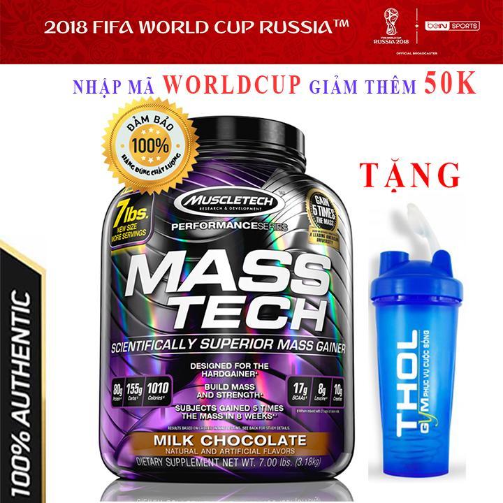 Hình ảnh Sữa tăng cân tăng cơ cao cấp Mass Tech của Muscle Tech hương Socola bịch 3.2 kg - Chính hãng