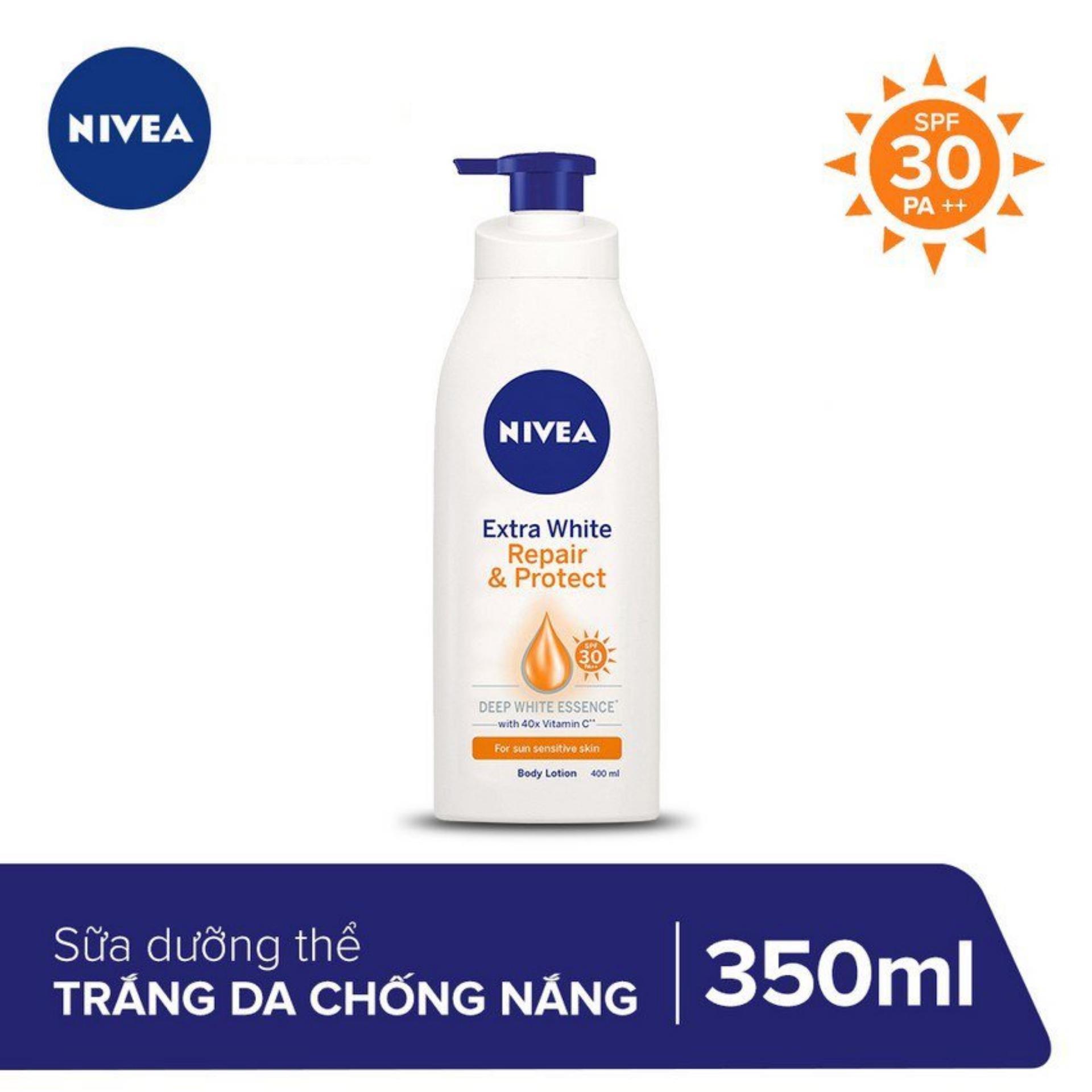 Sữa Dưỡng Trắng Giúp Phục Hồi & Chống Nắng Nivea 350ml _ 88311