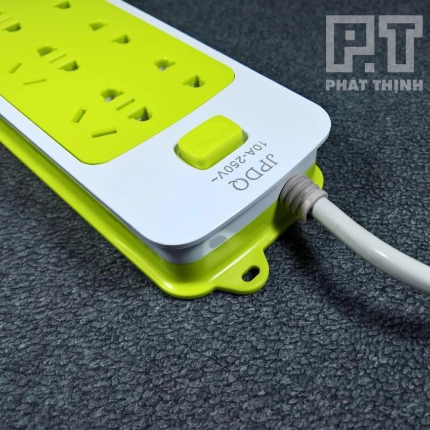 Hình ảnh Sạc nhanh cao cấp 6 lỗ - Tích hợp 3 cổng USB - JPDQ (Vàng Chanh)