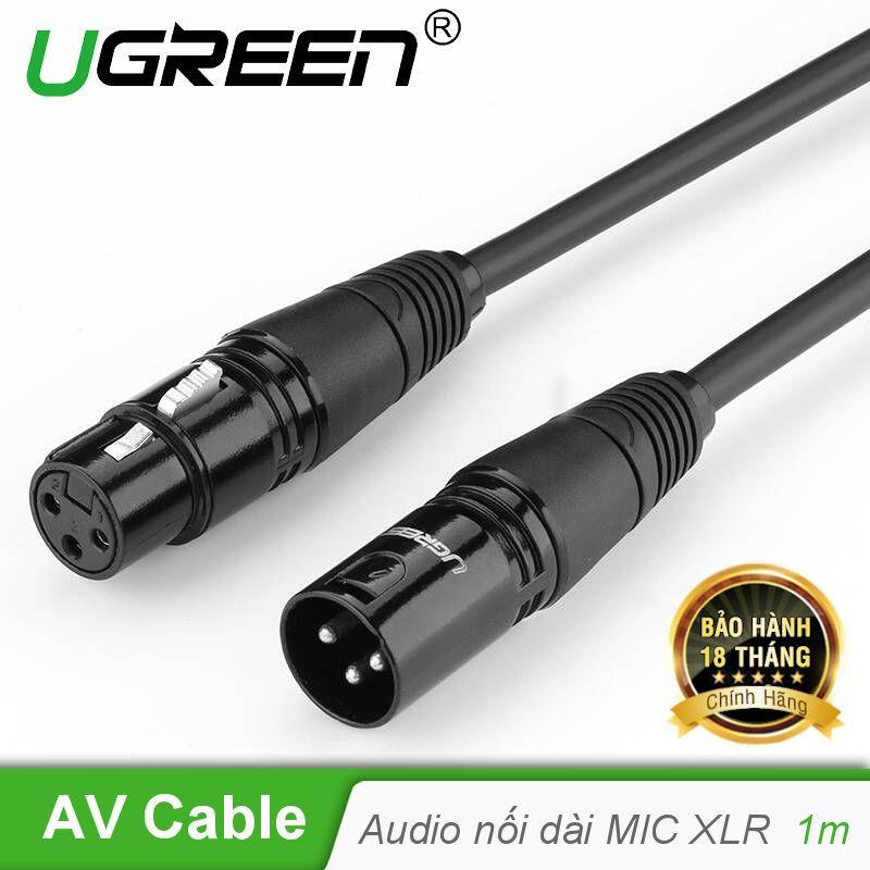 Dây Audio nối dài MIC XLR (Cannon) 6mm dài 1M UGREEN AV130 20708 - Hãng phân phối chính thức