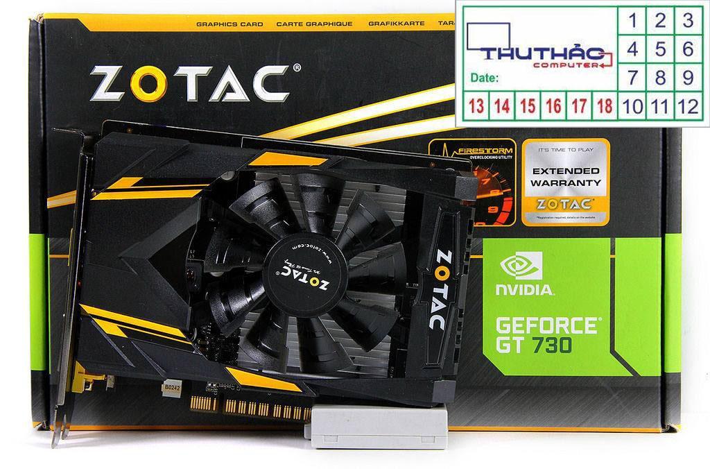 Hình ảnh ZOTAC GT730 2G RAM5 Bảo hành 12 tháng