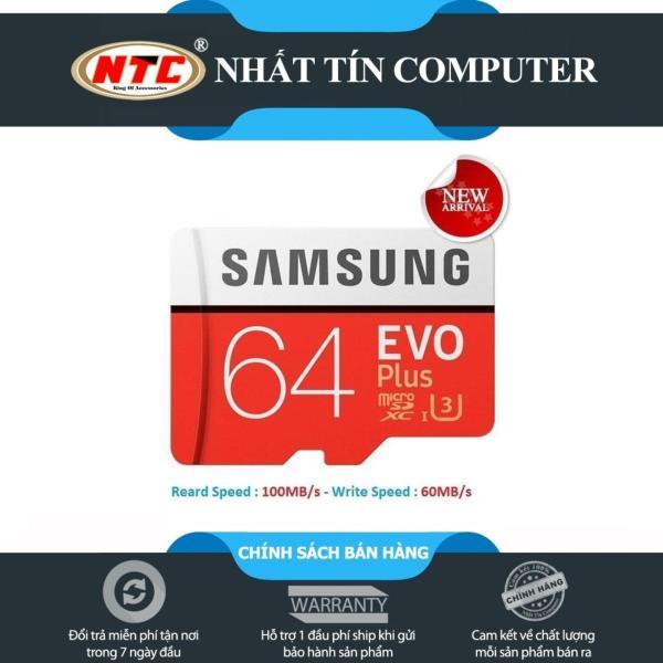 Thẻ nhớ MicroSDXC Samsung EVO Plus U3 64GB 100MB/s (New)